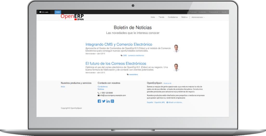 Crear un Blog con el CMS de OpenErp 8.0 (Odoo)