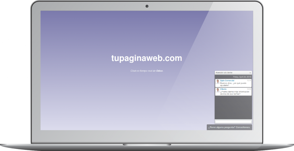 Chat en su web. OpenErp 8.0 (Odoo)