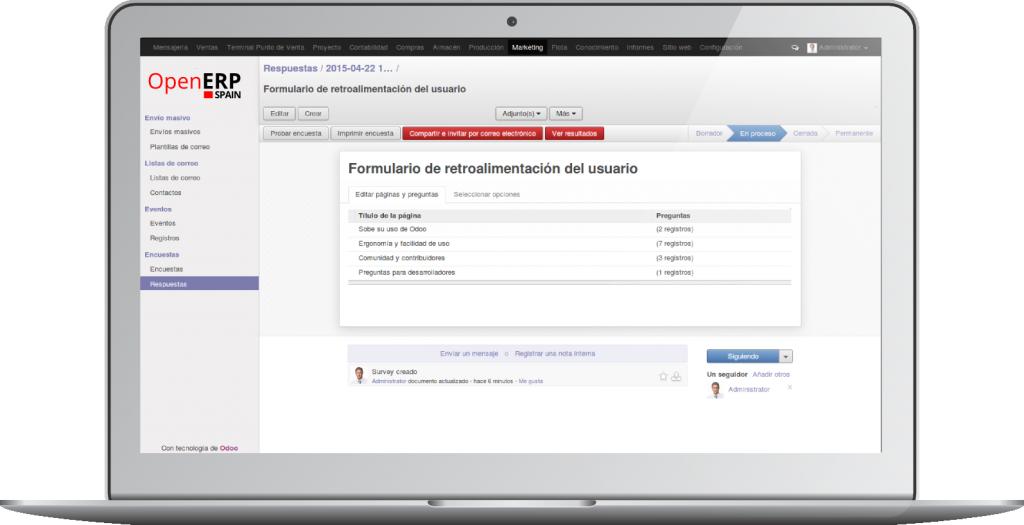 Diseño de Encuestas con OpenErp 8.0 (Odoo)