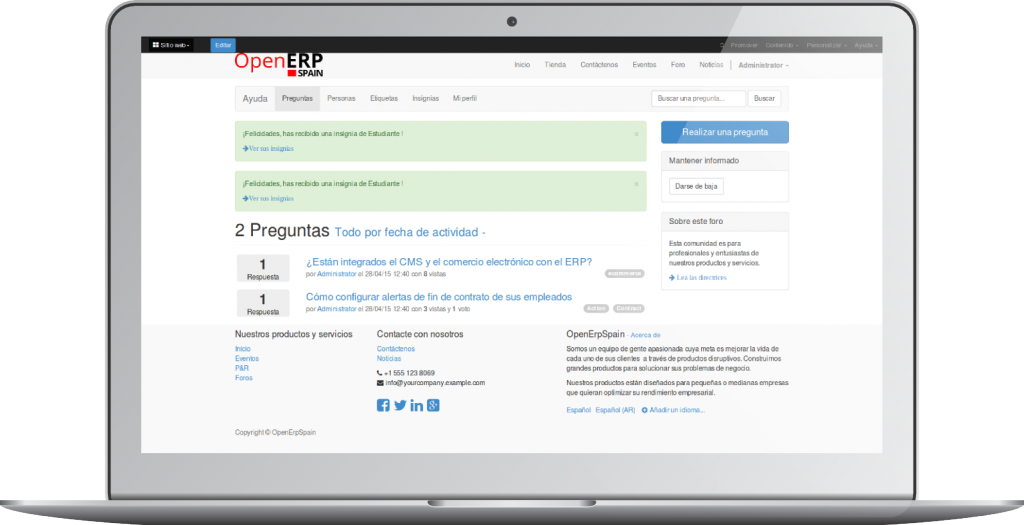 Crear un Foro con OpenErp 8.0 (Odoo)