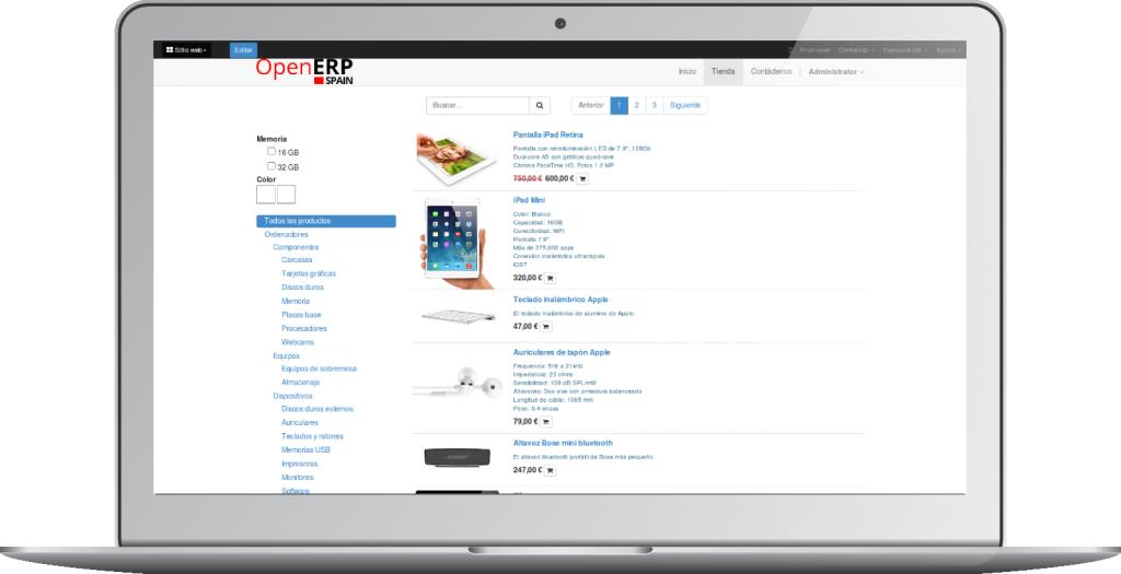 Comercio Electrónico de OpenErp 8 (Odoo)