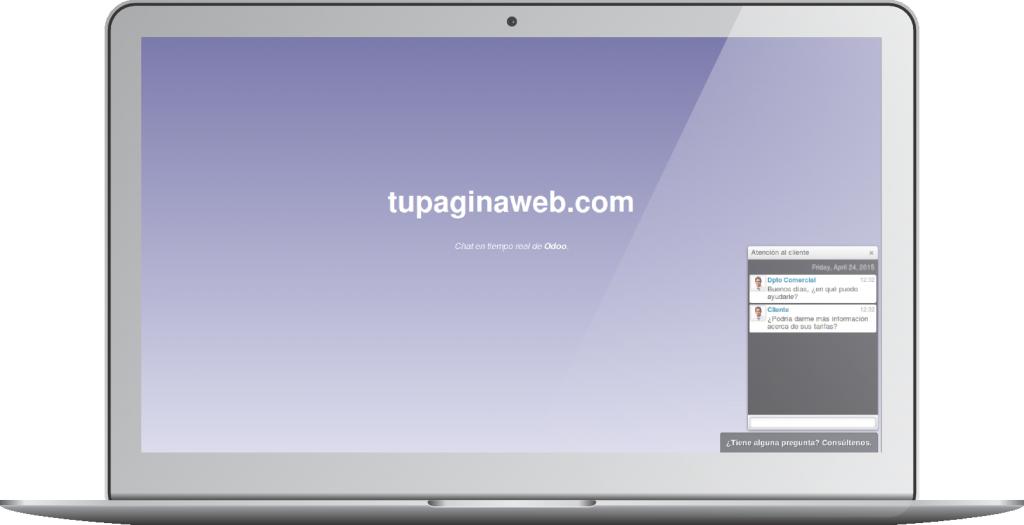 Chat en su web. Odoo 11.0 (OpenErp)